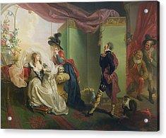 Malvolio Before Olivia - From 'twelfth Night'  Acrylic Print