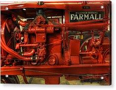 Mccormick Tractor - Farm Equipment  - Nostalgia - Vintage Acrylic Print by Lee Dos Santos