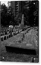 Old Boston Cemetery Acrylic Print by Thomas D McManus