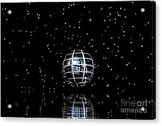 Planet And Stars Acrylic Print by Odon Czintos