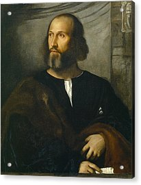 Portrait Of A Bearded Man Acrylic Print by Titian