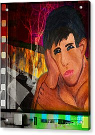 Portrait Of A Man 4 Acrylic Print by Emilio Lovisa