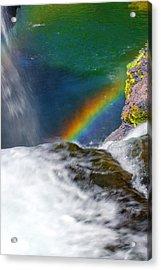 Rainbow By The Waterfall Acrylic Print