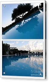 Acrylic Print featuring the photograph  Reflection. Collage by Tanya  Searcy