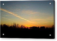 Saskatchewan Sunrise Acrylic Print by Janice Robertson