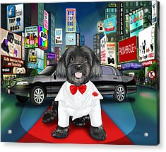 Sir Cuba Of Chelsea In Times Square Nyc Acrylic Print