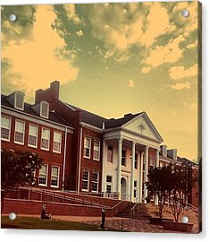 ☀☁🌆 #sky #clouds #downtown #cary Acrylic Print