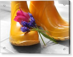 Spring Boots Acrylic Print by Cathy  Beharriell