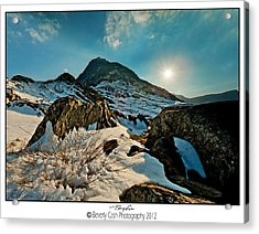 Spring Snows At Tryfan Acrylic Print