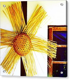 * #star #basket #basketweaving Acrylic Print