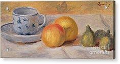 Still Life With Blue Cup Nature Morte A La Tasse Bleue Acrylic Print by Pierre Auguste Renoir