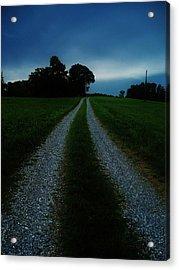 Stormy Road  Acrylic Print by Maria Blumberg