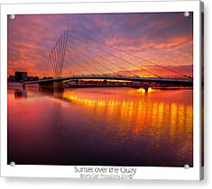 Acrylic Print featuring the photograph  Sunset Over The Quay by Beverly Cash