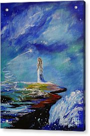 Sweet Little Wishes Acrylic Print by Leslie Allen