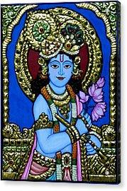 Tanjore Painting Acrylic Print by Vimala Jajoo