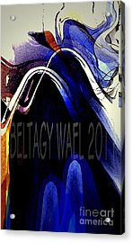 The Blue Wave Acrylic Print by Beltagy Beltagyb