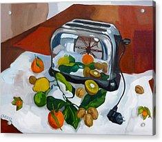 The Toaster Acrylic Print by Carmen Stanescu Kutzelnig