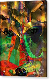 Viewing When Light Is On Acrylic Print by Fania Simon
