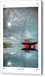 Acrylic Print featuring the photograph  Waiting For The Tide by Beverly Cash