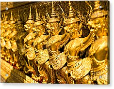 Acrylic Print featuring the photograph  Wat Phra Kaeo by Luciano Mortula