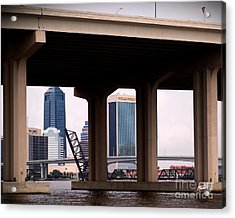 Welcome To Jacksonville Acrylic Print by Richard Burr