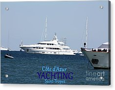 Acrylic Print featuring the photograph  Yachting by Rogerio Mariani