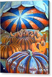 Acrylic Print featuring the painting 01014 Pumpkin Harvest by AnneKarin Glass