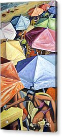 Acrylic Print featuring the painting 01138 Sunday by AnneKarin Glass