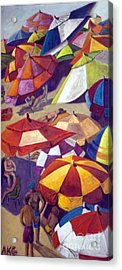 Acrylic Print featuring the painting 01151 Another Sunny Sunday by AnneKarin Glass