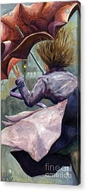 Acrylic Print featuring the painting 01155 Wild Umbrella by AnneKarin Glass