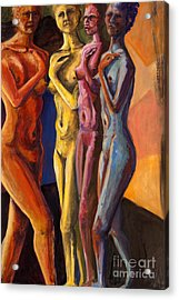 Acrylic Print featuring the painting 01249 Four Sister by AnneKarin Glass