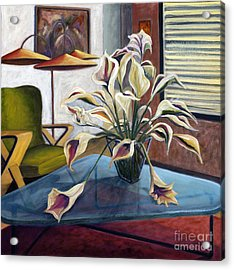 Acrylic Print featuring the painting 01254 Mid-century Modern by AnneKarin Glass