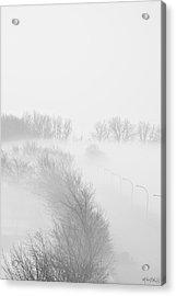 023 Buffalo Ny Weather Fog Series Acrylic Print by Michael Frank Jr