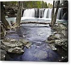 0804-3327 Falling Water Falls 1 Acrylic Print by Randy Forrester