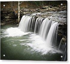 0805-005b Falling Water Falls 2 Acrylic Print by Randy Forrester
