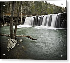 0805-0070 Falling Water Falls 3 Acrylic Print by Randy Forrester