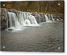 0902-6916 Natural Dam 1 Acrylic Print by Randy Forrester