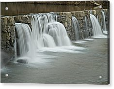 0902-7009 Natural Dam 2 Acrylic Print by Randy Forrester