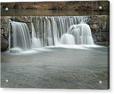 0902-7025 Natural Dam 3 Acrylic Print by Randy Forrester