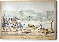 1826 Naturalist Charles Waterton & Caiman Acrylic Print by Paul D Stewart