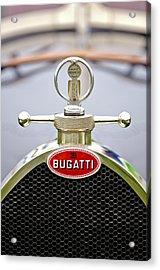 1923 Bugatti Type 23 Brescia Lavocat Et Marsaud Hood Ornament  Acrylic Print by Jill Reger