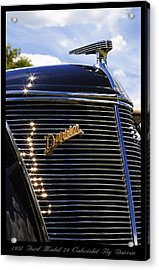 Acrylic Print featuring the photograph 1937 Ford Model 78 Cabriolet Convertible By Darrin by Gordon Dean II