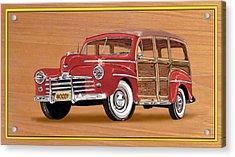 1946 Ford Woody Acrylic Print by Jack Pumphrey