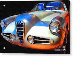 1955 Alfa Romeo 1900 Ss Zagato Acrylic Print by Wingsdomain Art and Photography
