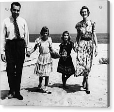 1956 Us Presidency, Nixon Family.  From Acrylic Print by Everett