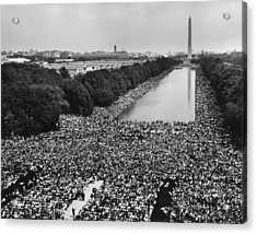 1963 March On Washington. A View Acrylic Print by Everett