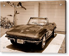 1965 Corvette Sting Ray Acrylic Print by Kornel J Werner
