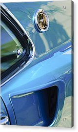 1969 Ford Mustang Mach 1 Emblem 2 Acrylic Print by Jill Reger