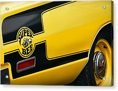 Acrylic Print featuring the photograph 1970 Dodge Coronet Super Bee by Gordon Dean II
