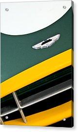 1993 Aston Martin Dbr2 Recreation Hood Emblem Acrylic Print by Jill Reger